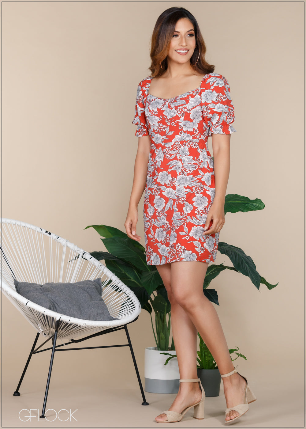 Printed Dress - Casual 1112