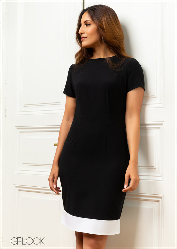 Hem Panel Detail Dress