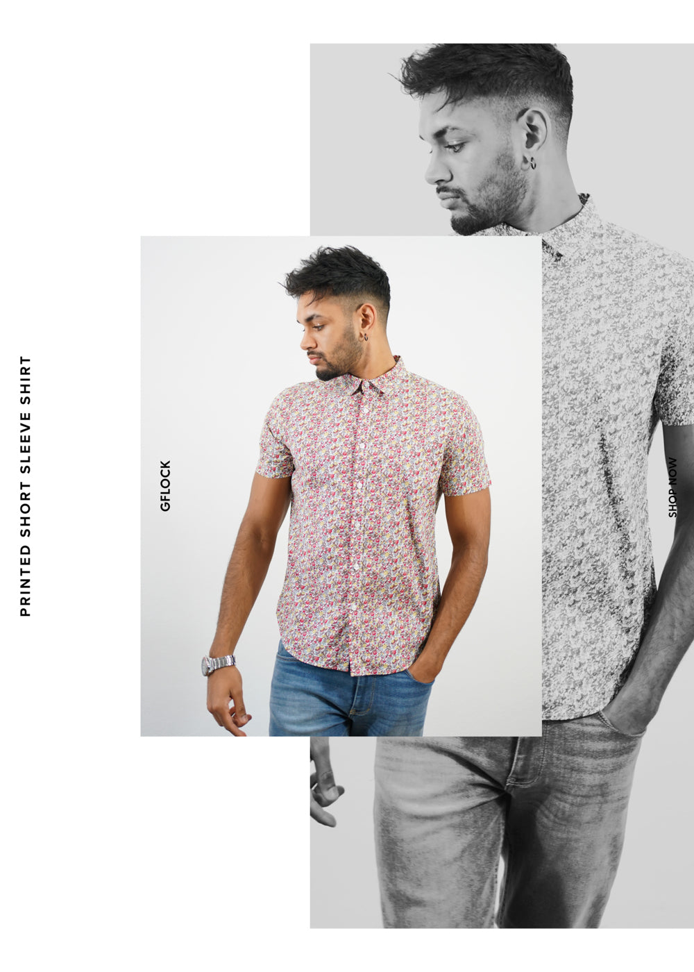 Printed Short Sleeve Shirt - 2012