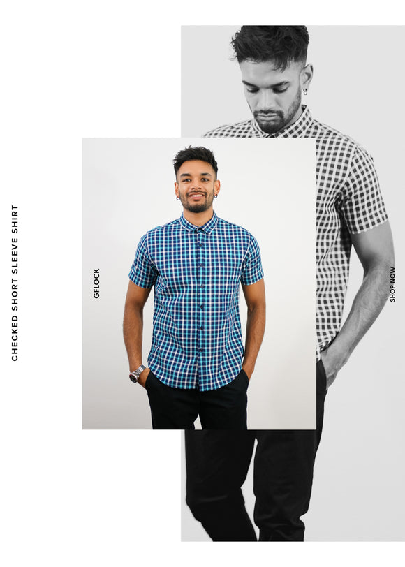 Checked Short Sleeve Shirt - 2012