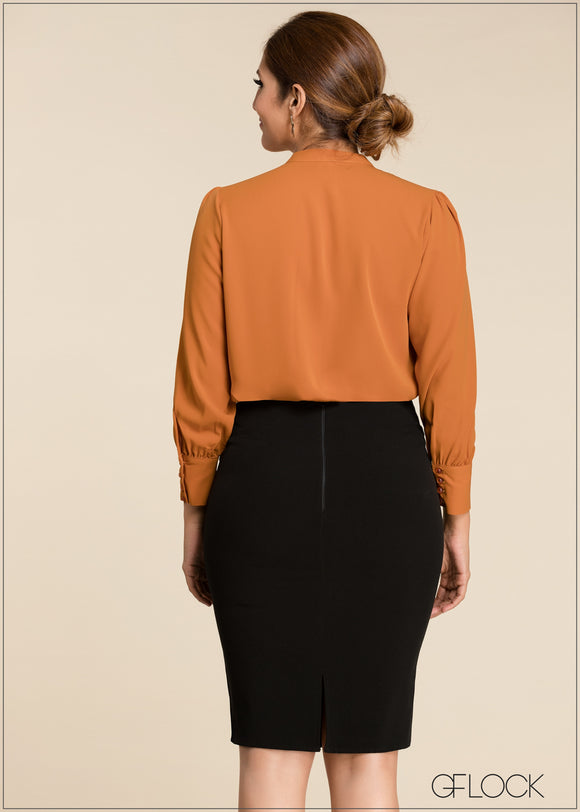Long Sleeve Front Buttoned Top