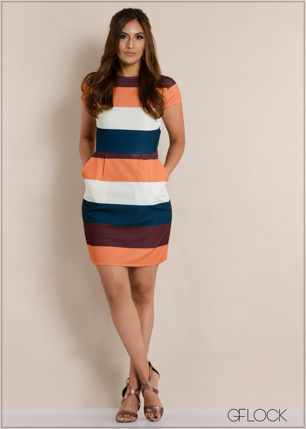 Striped Evening Dress