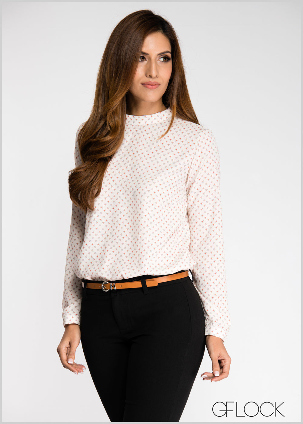 Printed Work Wear Top