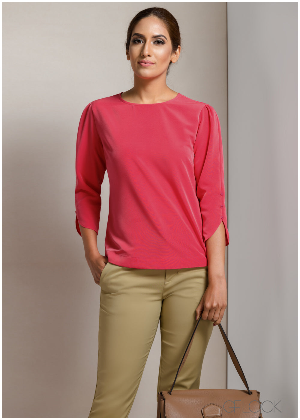 Boxy Fit Sleeve Detail Workwear Top