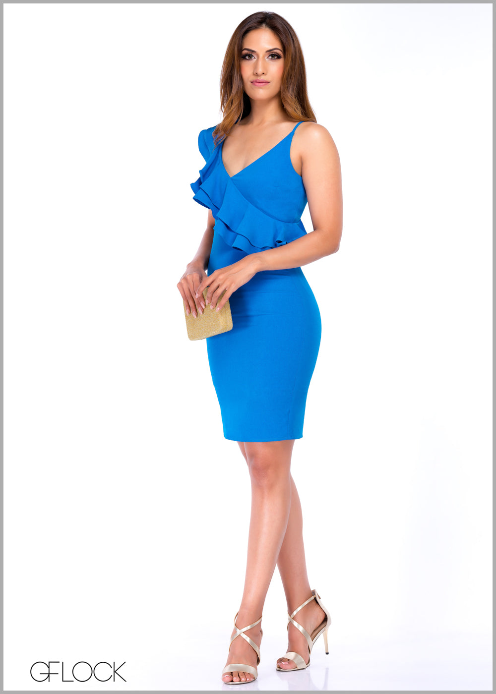 One Shoulder Frill Body-Con Dress