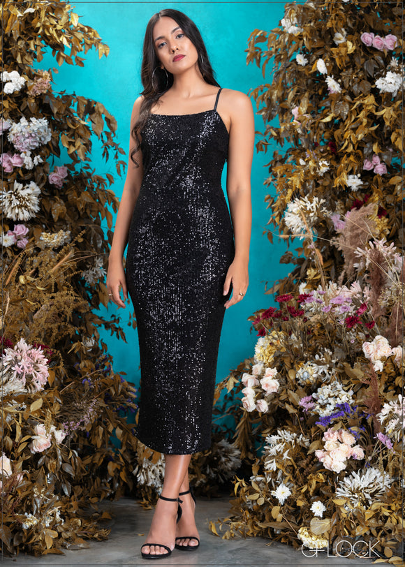 Sequined Maxi Dress - Eve 2312