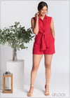 Romper with Front Tie - CL1202