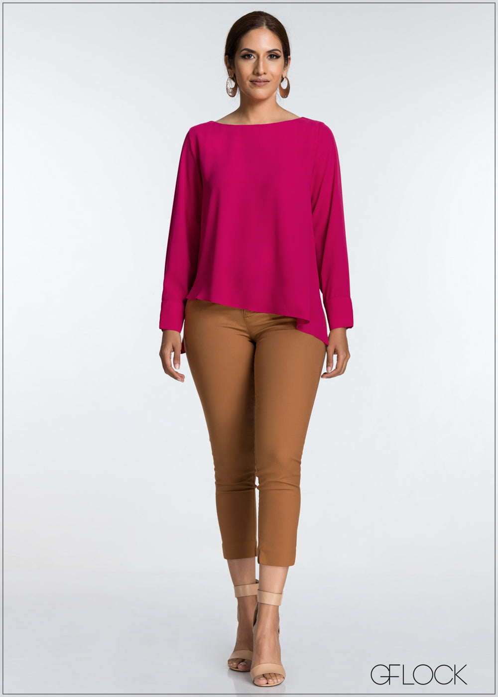 Asymmetric Boat Neck Top
