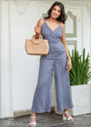 Ring Detail Jumpsuit - Linen 1612