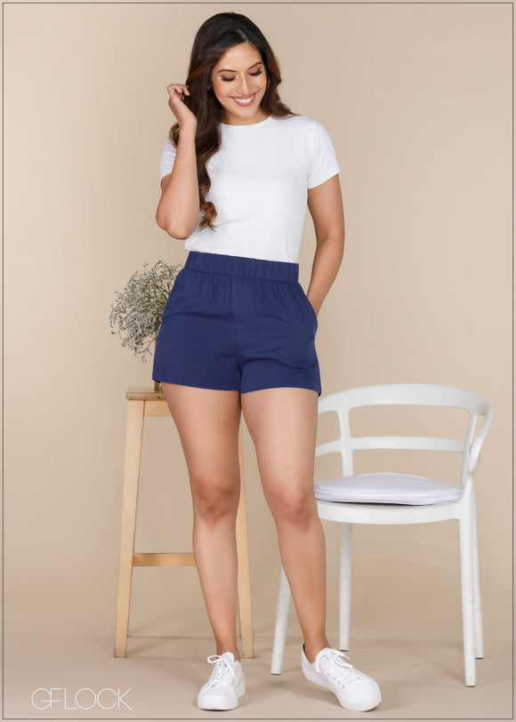 Shorts with Elasticated Band - Casual 1112