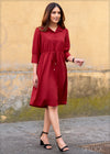 Dress with Cuff Detail - WW2301