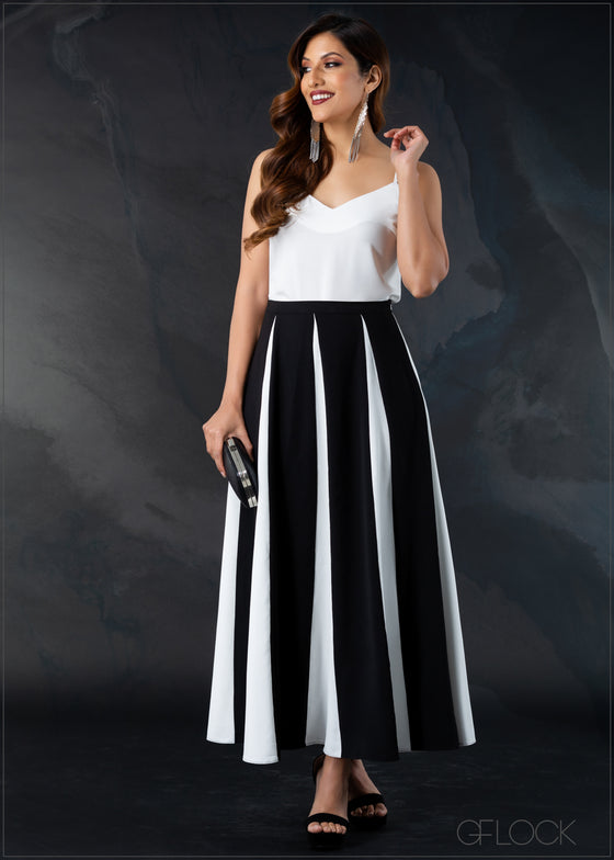 Color Block Skirt - Eve 1212