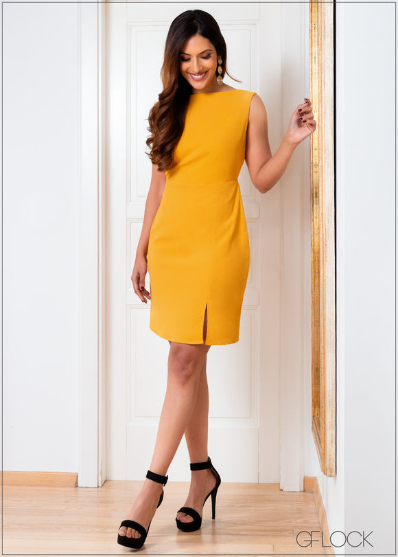 Back Scoop Neck Dress - 357