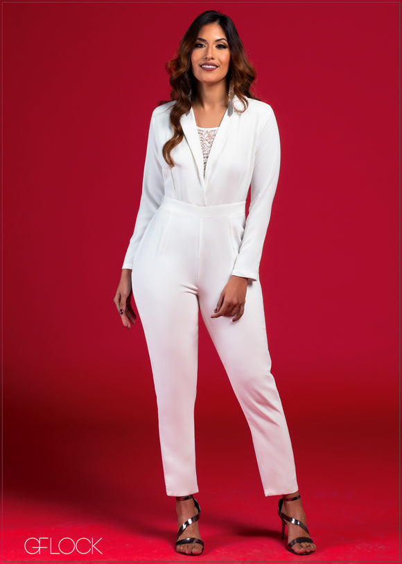 Jumpsuit with Lace Detail - VC2021