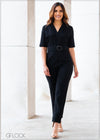 Jumpsuit with Belt - WW2812