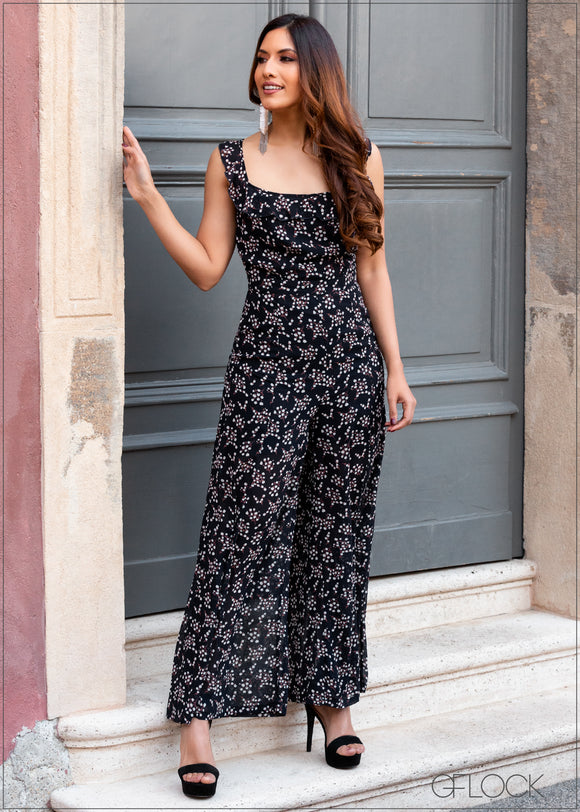 Jumpsuit with Back Tie - 355