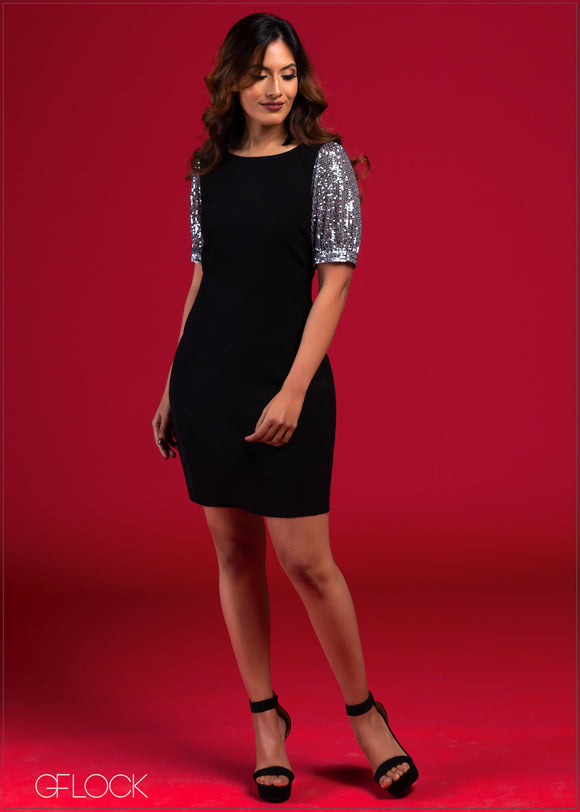 Sequin Sleeved Dress - VC2021