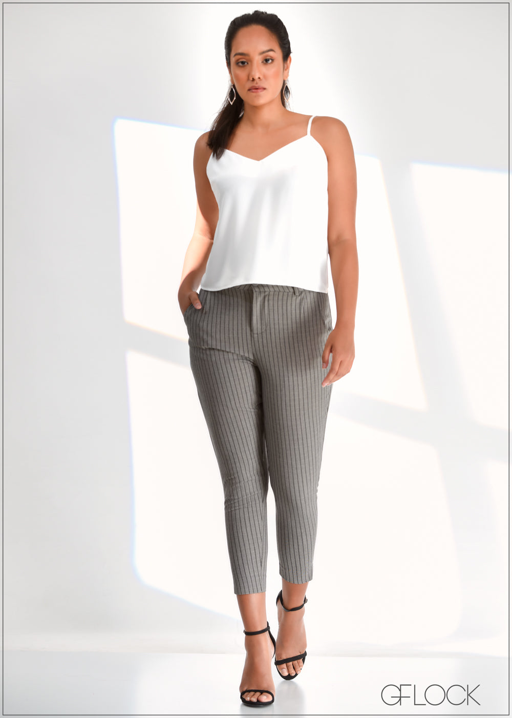 Ankle Length Stripe Pant - WW0219