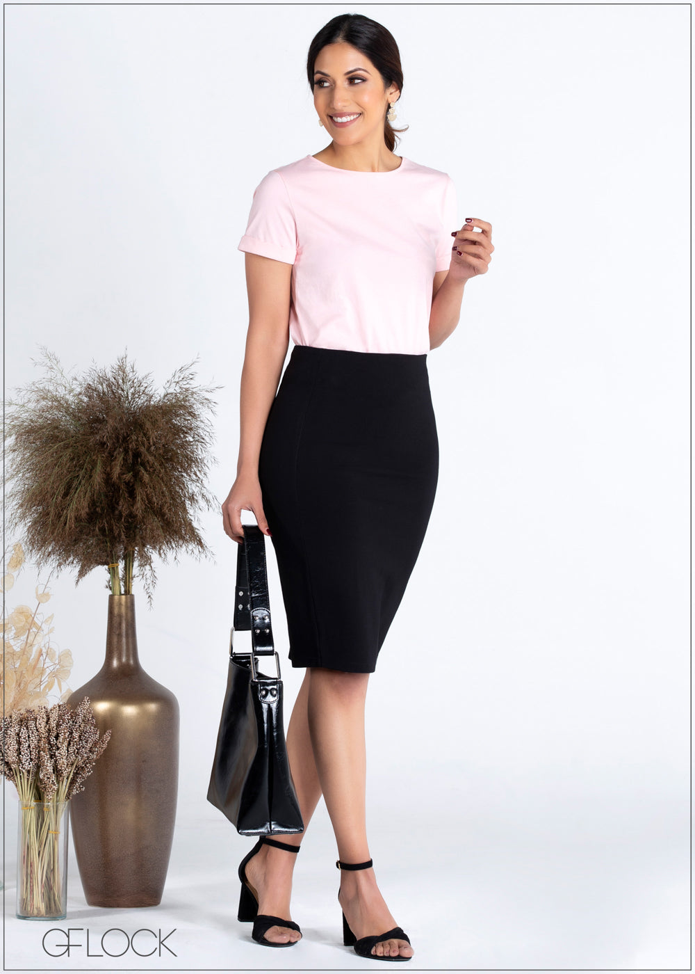 Skirt with Seam Detail - 359