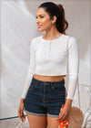 Long Sleeved Crop Top - Knit 503