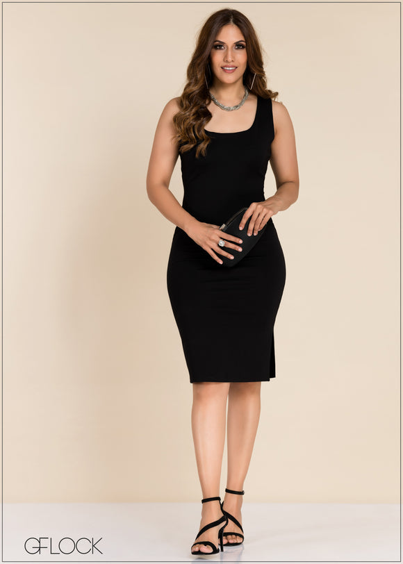 Sleeveless Bodycon Dress - GFLOCK.LK