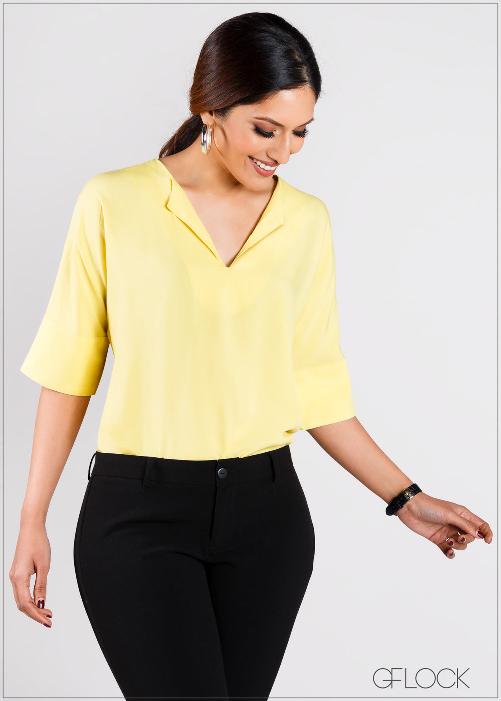 Puff Sleeved Top with Cuff Detail - CAP203