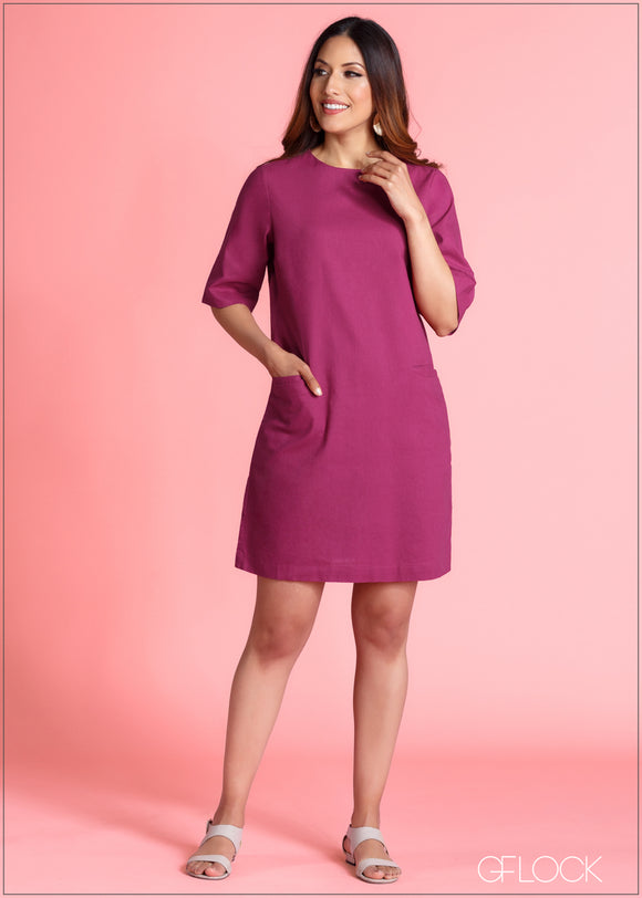 Shift Dress With Pocket - 364