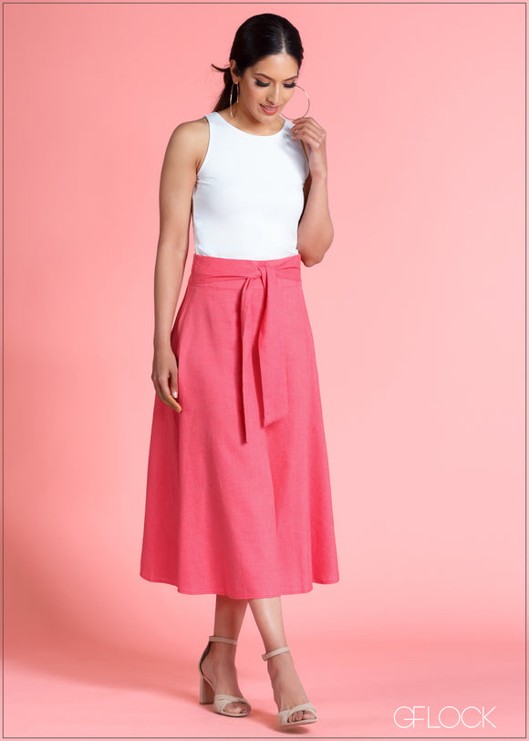 Skirt With Waist Tie - 364