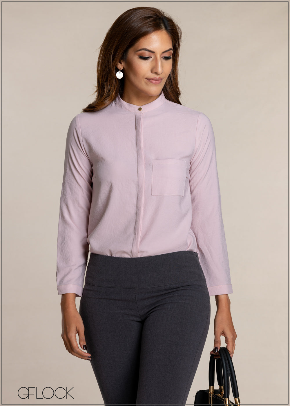 Single Pocket Basic Workwear Top
