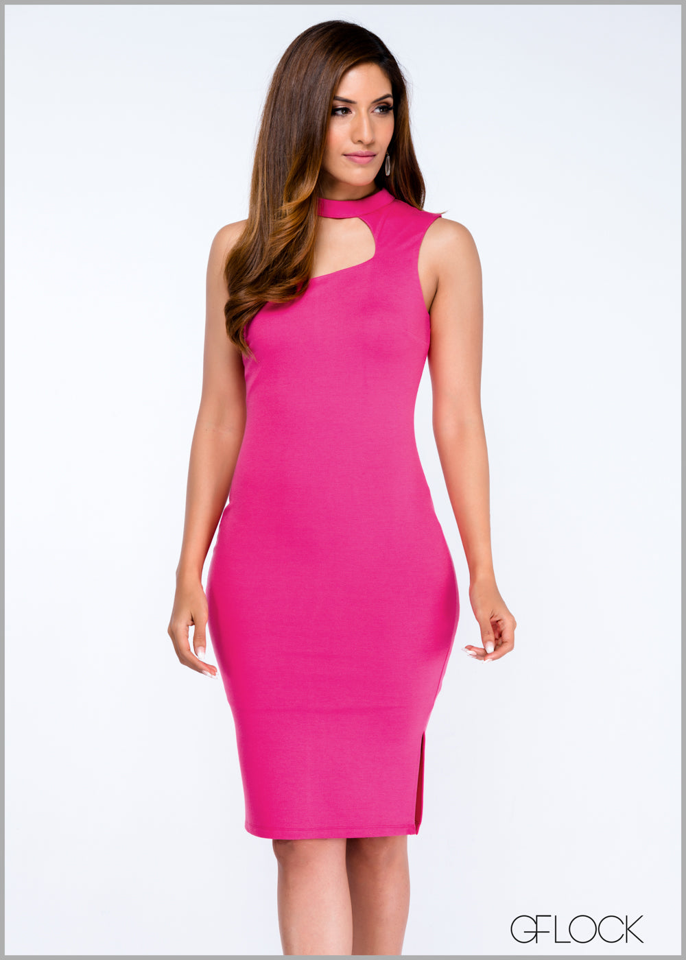 Cut Out Detailed Body-Con Dress