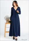 Long Sleeve Wrap Maxi - 367