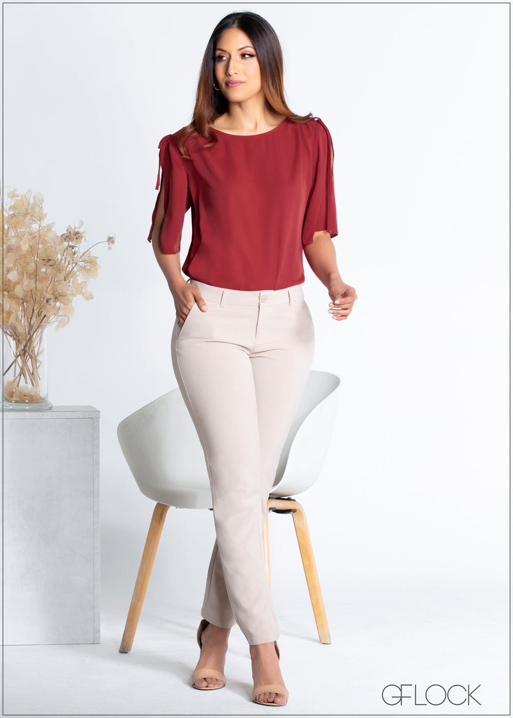 Shoulder Ruched Top - 365