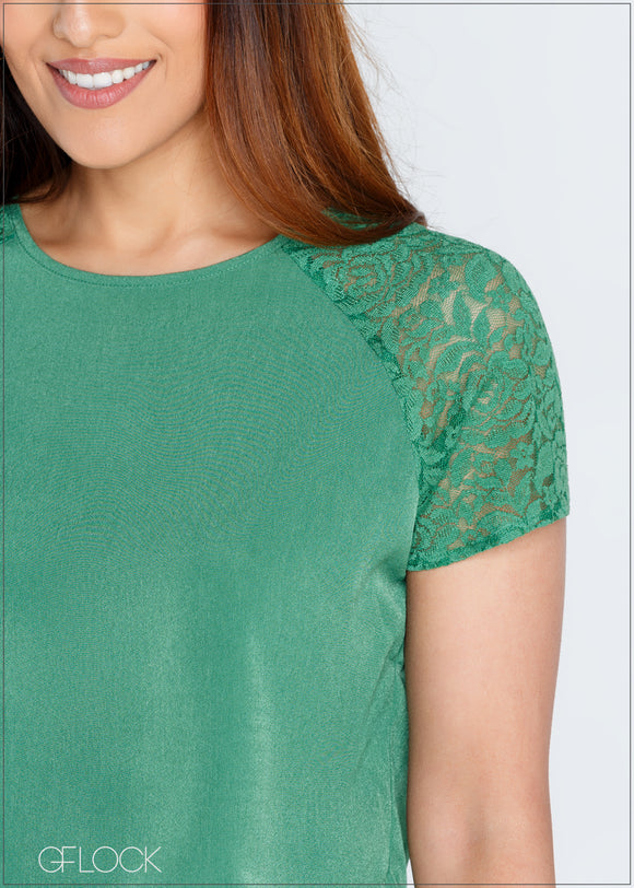 Lace Detailed Top - 367