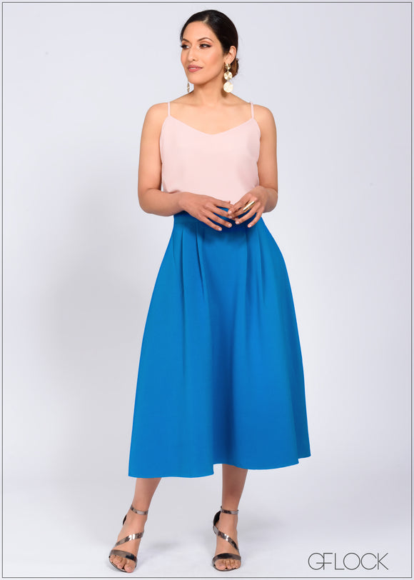 Midi Skirt with Pockets - 368