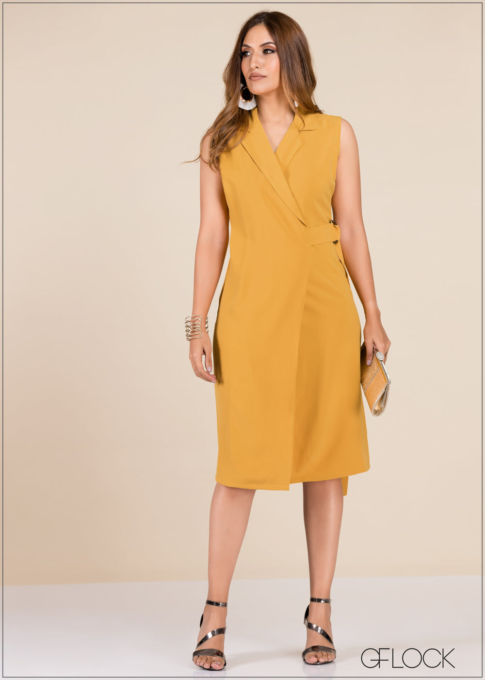 Front Wrap Detail Dress - GFLOCK.LK