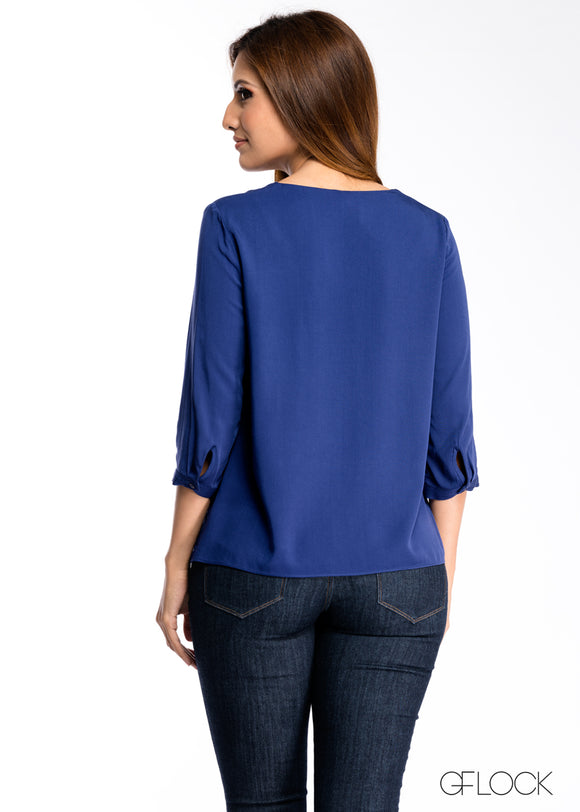 Neck Cross Detailed Top