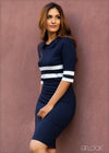 Stripe Detailed Bodycon Dress