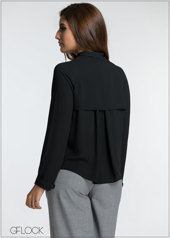 Back Flap Long Sleeve Top