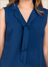 Sleeveless Neck Tie Detail Top - GFLOCK.LK