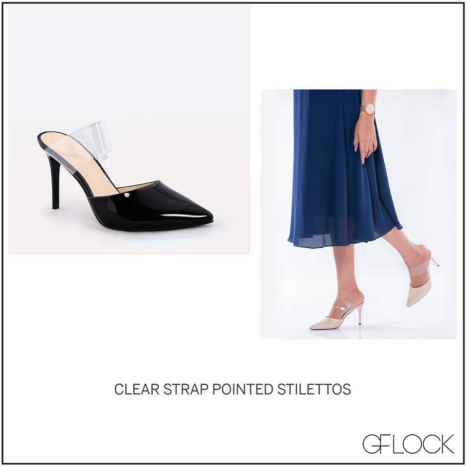 Clear Strap Pointed Stilettos