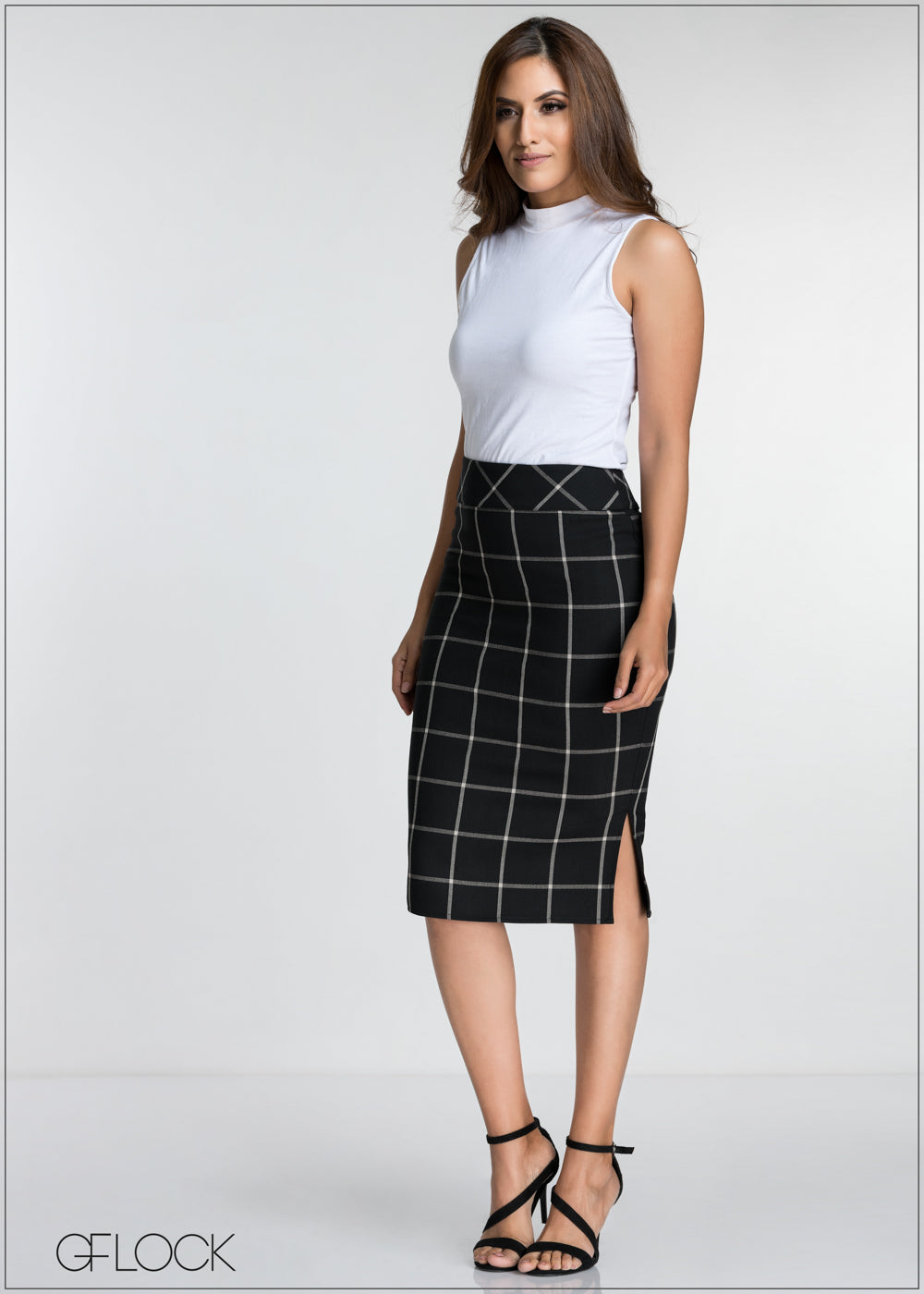 Plaid Workwear Skirt