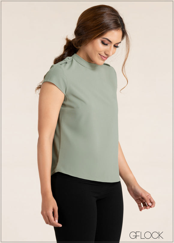Shoulder Tab Detail Top