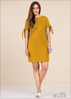 Sleeve Tie Up Shift Dress - GFLOCK.LK