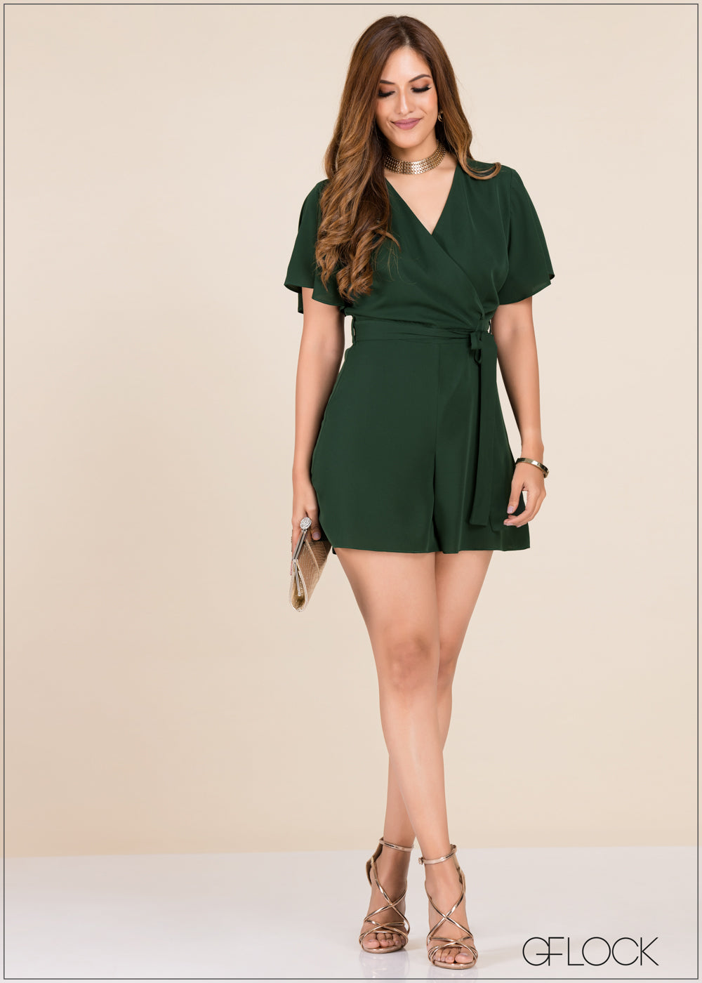 Flared Sleeve Romper - GFLOCK.LK