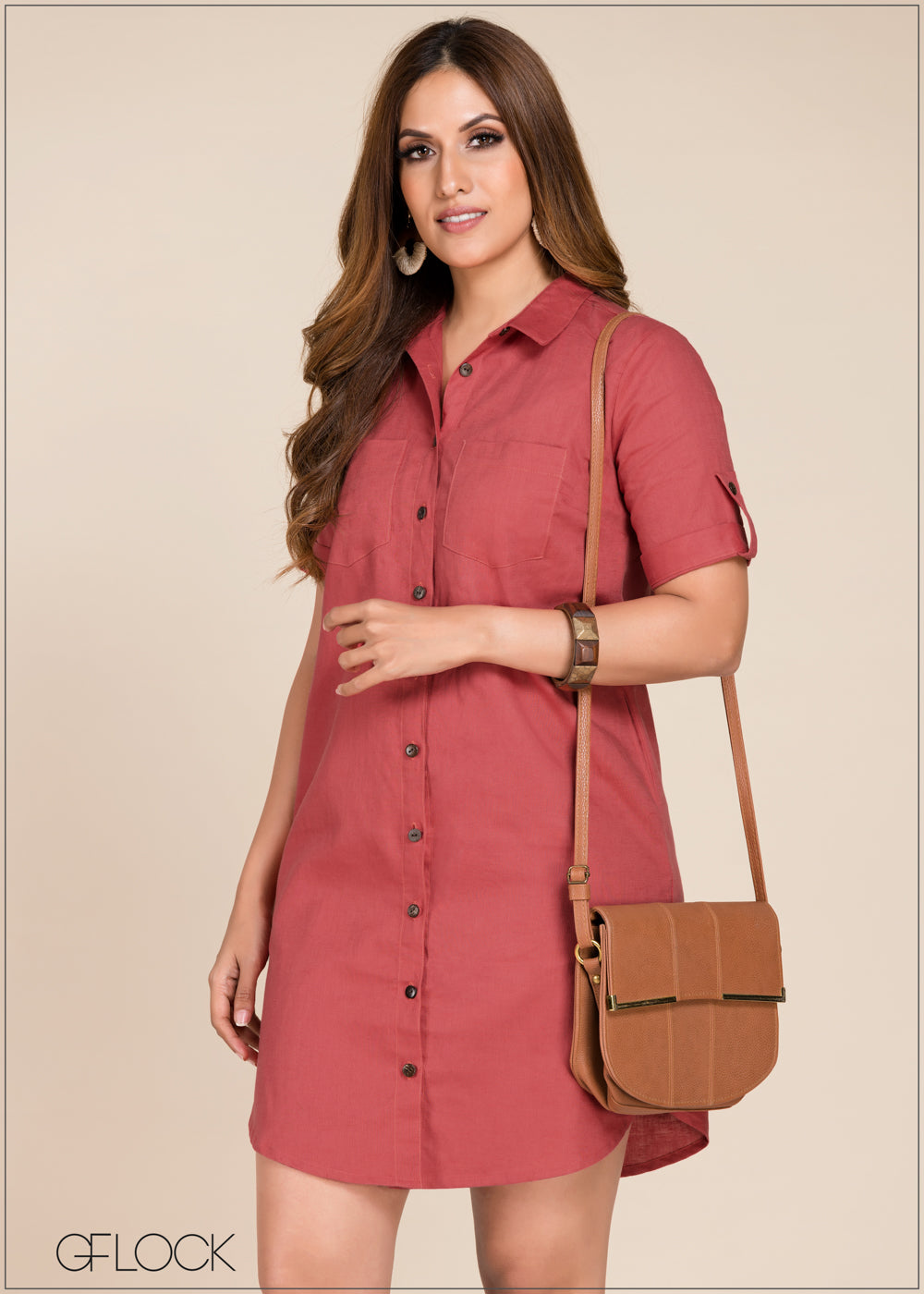 Shift Shirt Dress - GFLOCK.LK