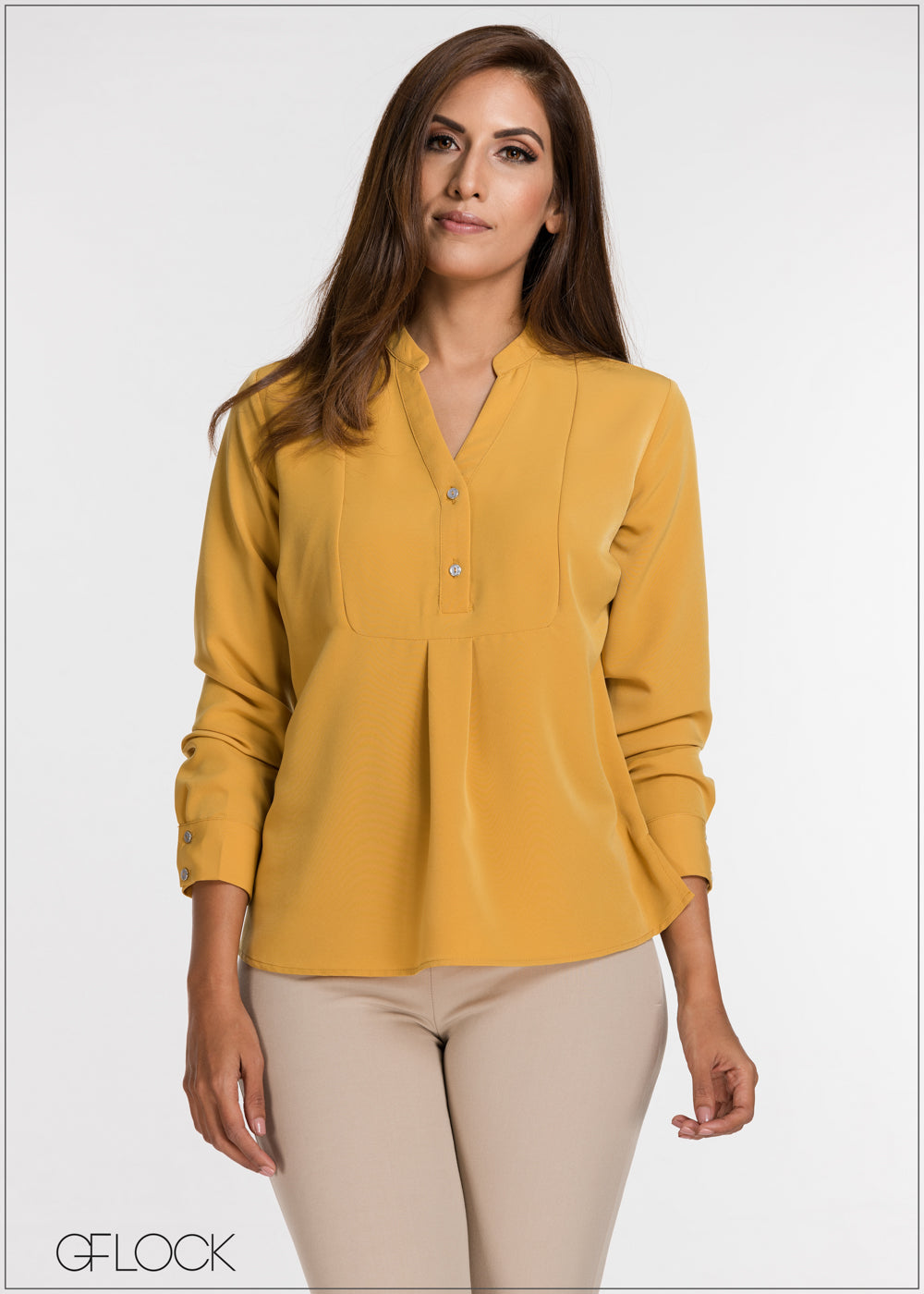 Buttoned Up Long Sleeve Top