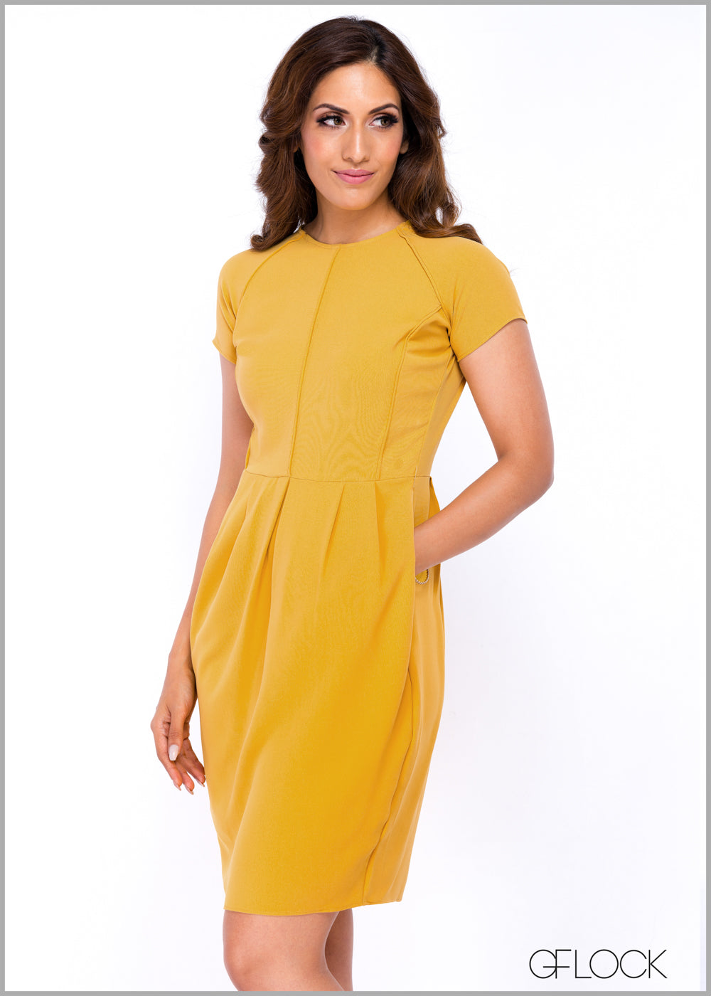 Round Neck Fit & Flair Dress