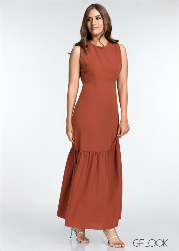 Back Tie Sleeveless Long Dress