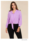 Hem Tie Knot Detailed Top - GFLOCK.LK