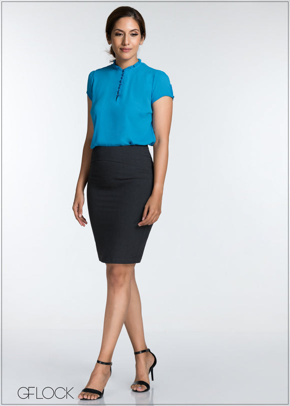 Seam Detail Workwear Skirt